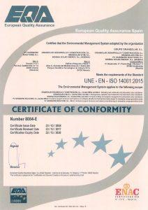 GRS certificate ISO 14001 Enviromental