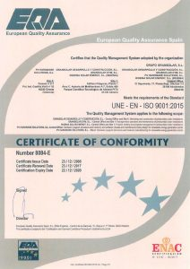GRS ISO 9001 Quality certificate
