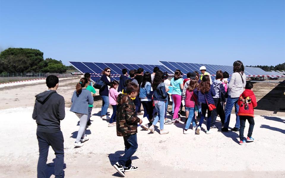 School visits GRS PV plant Coruche